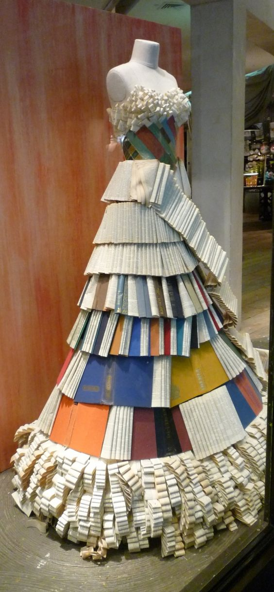 Book dress. Perhaps an idea for the Library's next Altered Book Festival
