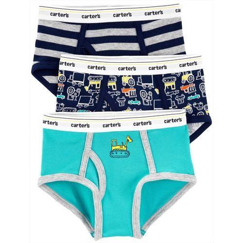 5 x Boys Kids Striped Design 100/% Cotton Briefs Underwear Pants