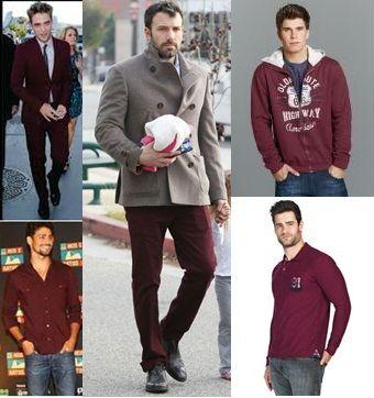 Bordô é a cor desse inverno, então meninos invista em looks com essa cor, afinal vocês também merecem e podem ficar na moda.
