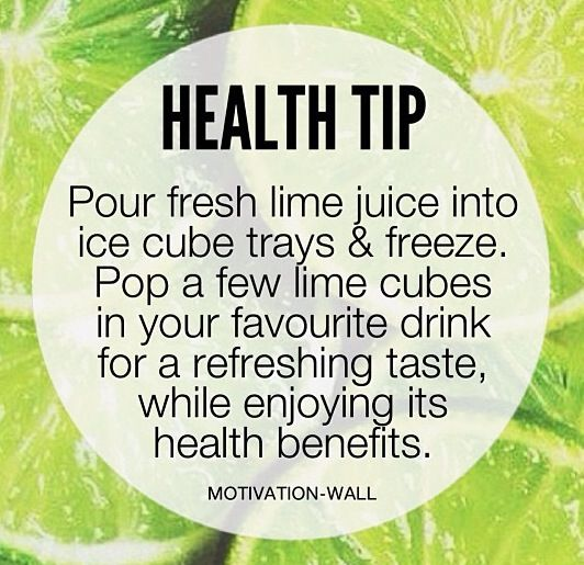 Health tip with lime