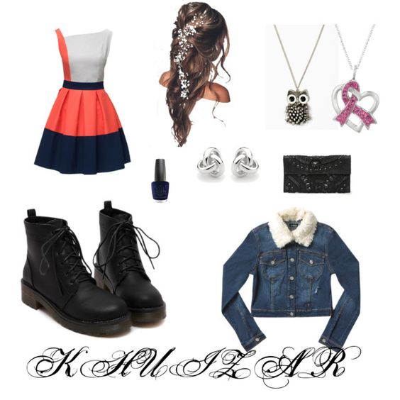 My Church Outfit by khuizar on Polyvore featuring Lattori, Bebe, Georgini and OPI