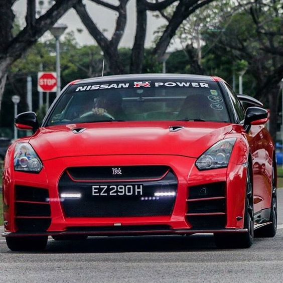 Red Hot GT-R Follow @GTR_Automotive  Follow @GTR_Automotive  #  Freshly Uploaded To www.MadWhips.com  Photo by @mingloonphotography