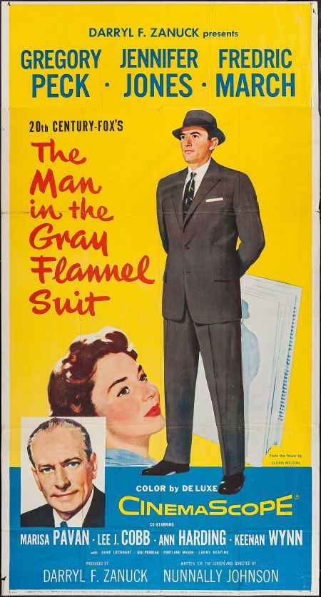 """Movie Posters:Drama, The Man in the Gray Flannel Suit (20th Century Fox, 1956). ThreeSheet (41"""" X 77""""). Drama.. ... Image #1"""