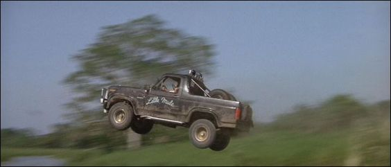 """In 1984's Romancing the Stone, the 1982 Ford Bronco XLT named """"Pepe, The Little Mule"""" holds the title for the most memorable car name of all time."""