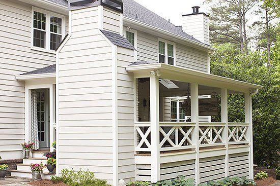 This Family Transformed Their Deck Into A Coastal Inspired Covered Porch In 2020 House With Porch Backyard Building A Porch