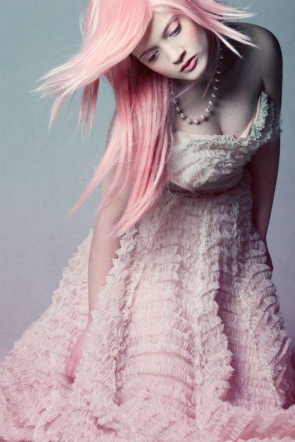 Pink hair. Pretty.