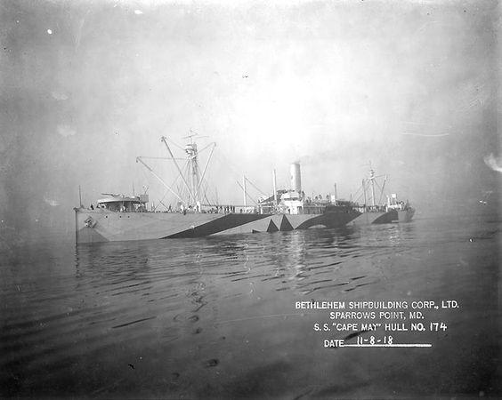 USS Cape May - Navy Cargo Ship, 1918