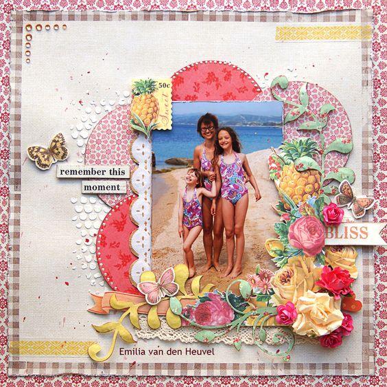 Summer+Bliss+{Kaisercraft+&+Merly+Impressions} - Scrapbook.com