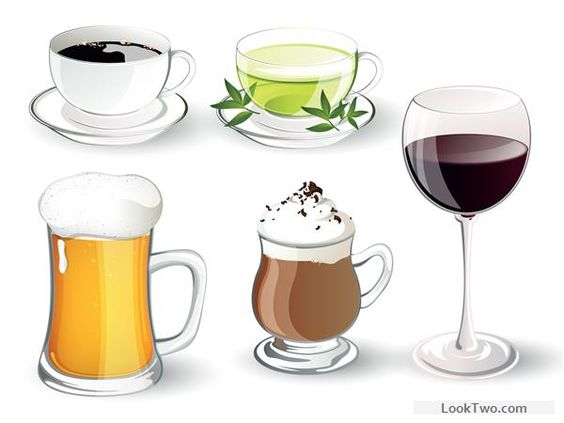 Different delicious drinks vector illustration 02 free vector download