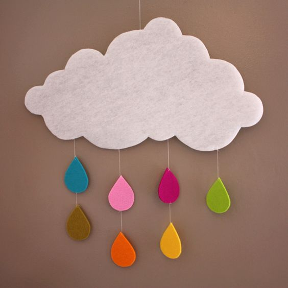 Handmade Clouds.  Could go in her bedroom afterward as wall decor.