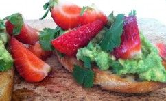 Strawberry & Avocado Crostini- Gena Knox