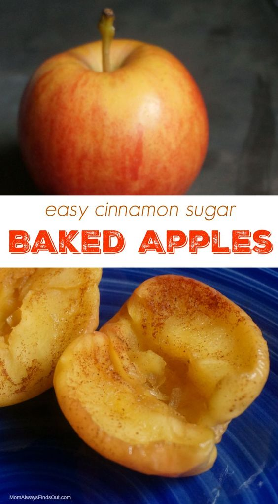 Baked apples, Microwave baked apples and Baked cinnamon apples on ...