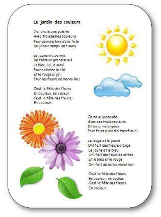 Chanson pour apprendre les couleurs en maternelle le for Au jardin des couleurs