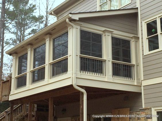 This Customer Transformed Part Of Their 2nd Floor Deck Into A Great 3 Season Room With Eze