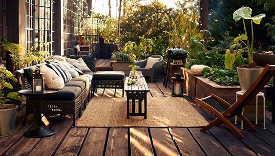 Arredi esterni Ikea Kungsholmen   terrazzi   Pinterest   Verandas ...