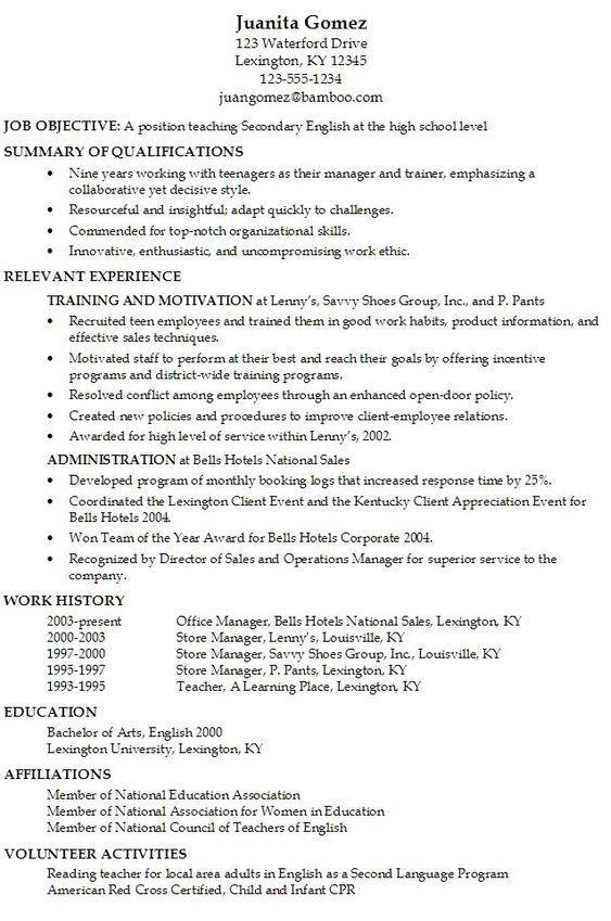 resume builder for teens sample resumes sample resumes