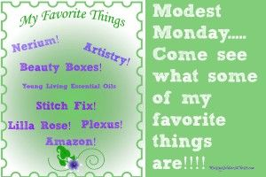 Modest Monday: These are a few of my favorite things..... - Raising Soldiers 4 Christ