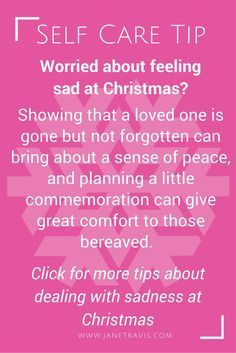 If you're worried about feeling sad at Christmas, take a read for ideas to deal with Christmas  remembrance