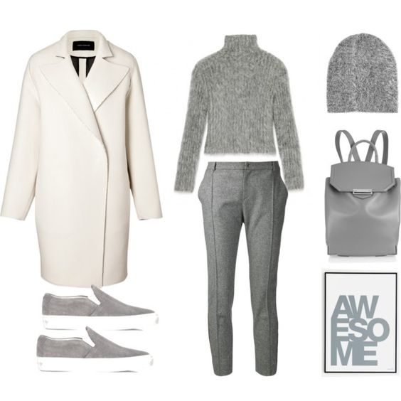 """""""Awesome Grey"""" by fashionlandscape on Polyvore"""