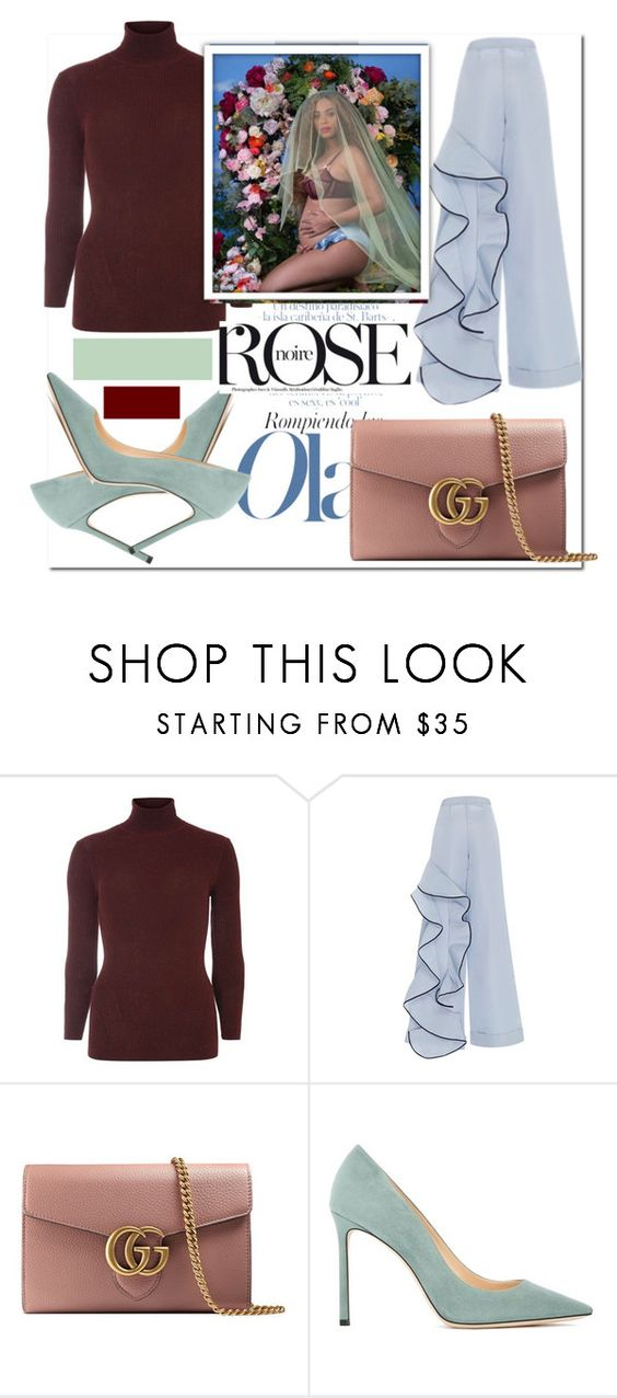 """""""I Thought the Colours in the Pic were Amazing..."""" by nfabjoy ❤ liked on Polyvore featuring Dorothy Perkins, Johanna Ortiz, Gucci, Jimmy Choo, Beyonce and CelebrityStyle"""