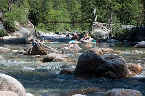 Wawona Swinging Bridge Swimming Hole In Yosemite National Park So Many Family Memories Here