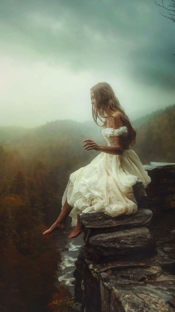 Couture Bridal Gown Fine Art Photoshoot at Linville Falls | Fashion Photography | Conceptual photography inspiration | Fine Art Photography from Follow Me Away | Designer Wedding Dress