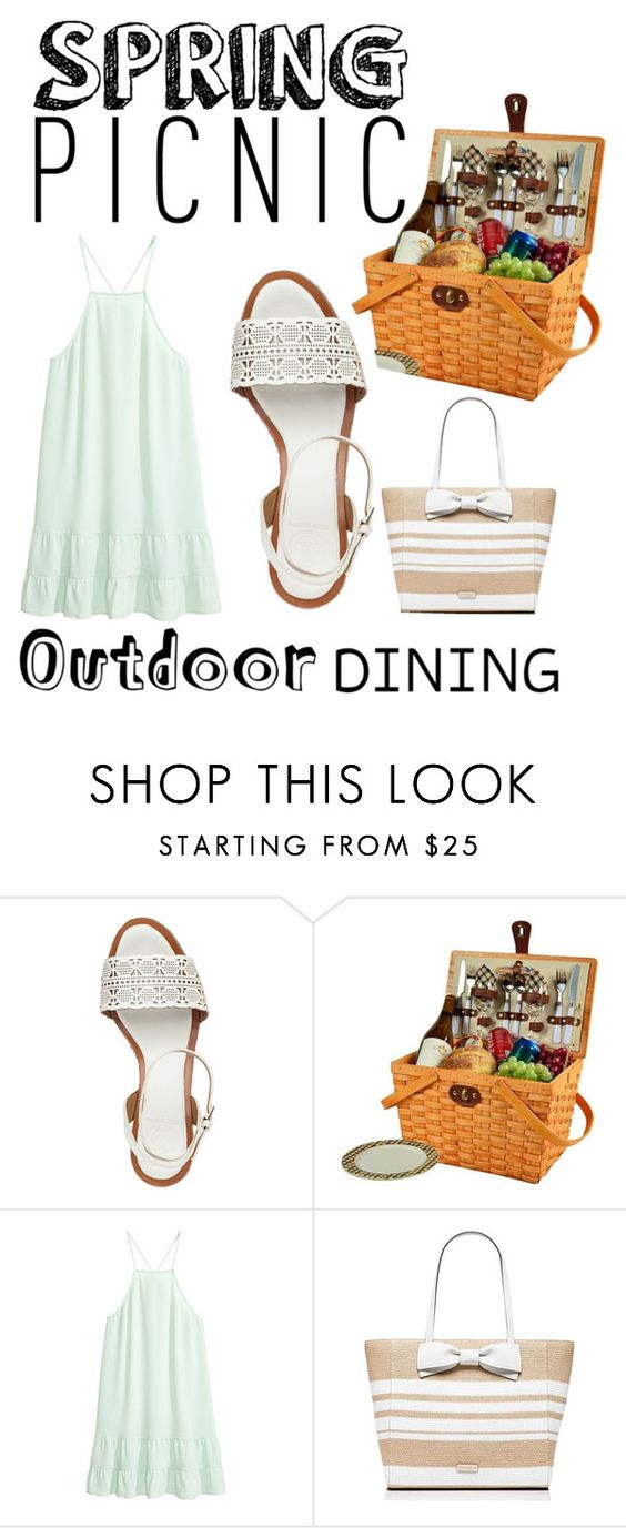 """""""Spring Picnic"""" by martinezmariamm ❤ liked on Polyvore featuring Tory Burch, Picnic at Ascot and Kate Spade"""