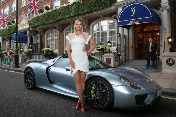 Sharapova y Porsche 918 Spyder