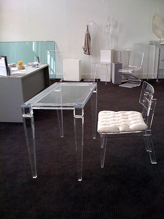 ghost chair and desk - Google Search