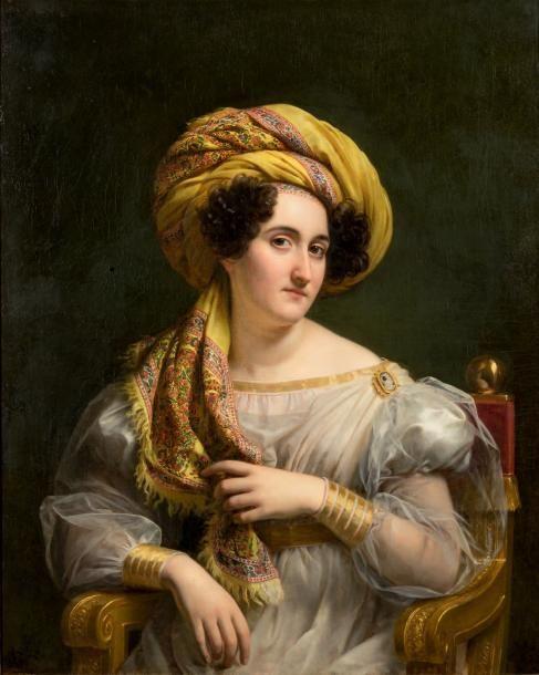 LOUIS HERSENT (PARIS 1777 - 1862)   Portrait de Joséphine Louise Hortense Soult, épouse Mornay:
