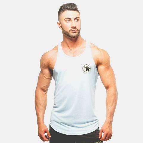 Goku Mens Bodybuilding Tank Top T-Shirt Stringer Muscle Gym Dragon Ball Z