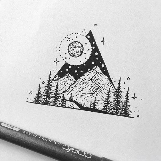 Stylish Mountain Tattoos
