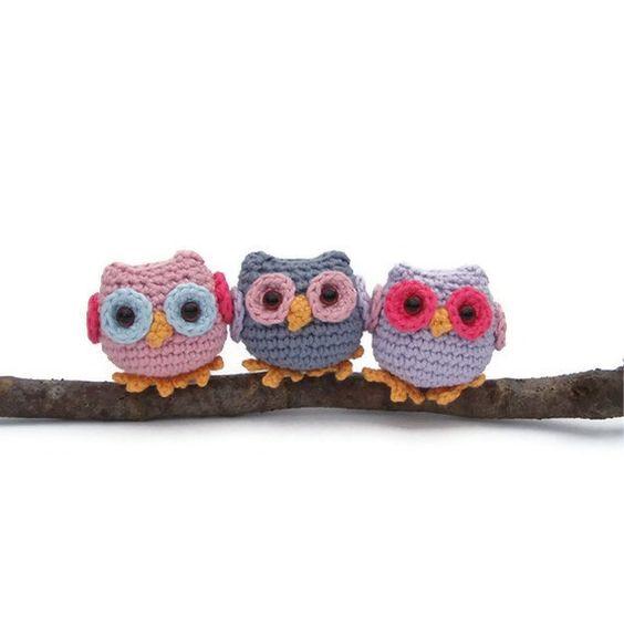 Crochet owl pattern pdf tiny owl amigurumi crochet pattern by Lybo,