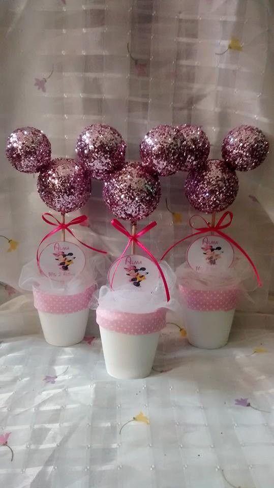 Centros de mesa souvenirs topiarios arbolitos mickey