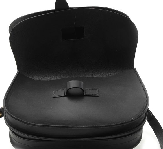 black arlington saddle bag by lost property of london