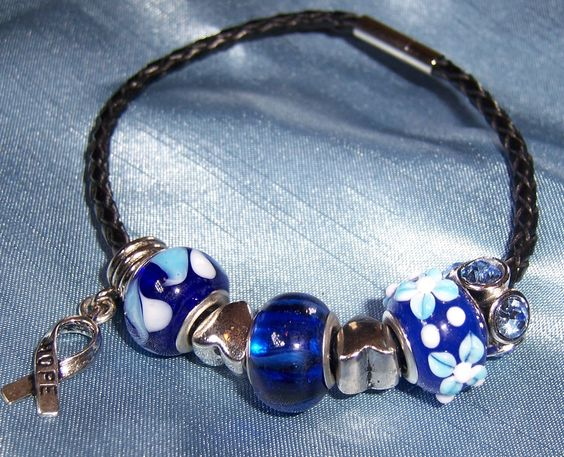 Handmade blue bracelets for hope for adults and children with rare diseases.