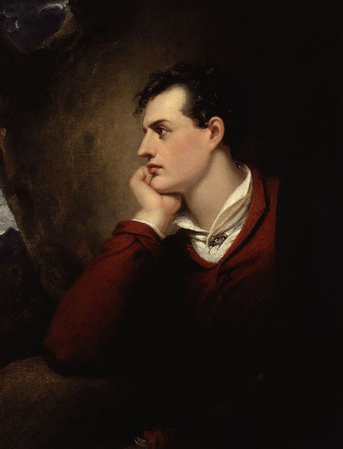 Richard Westall (1765-1836), Portrait de Lord Byron.