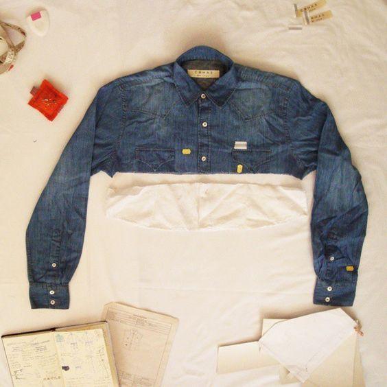 UIP - Upcycling in Progress Estudando combinações COMAS ❤ Jeans + Linho