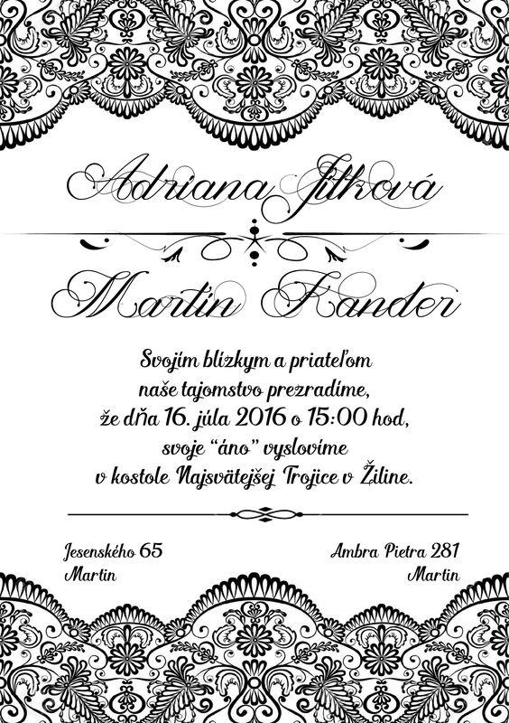 Black Lace Wedding Invitation
