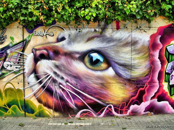 Graffitis, arte urbano o polución urbana by Javier Fossas, via Flickr  Wow-this is beautiful work!!