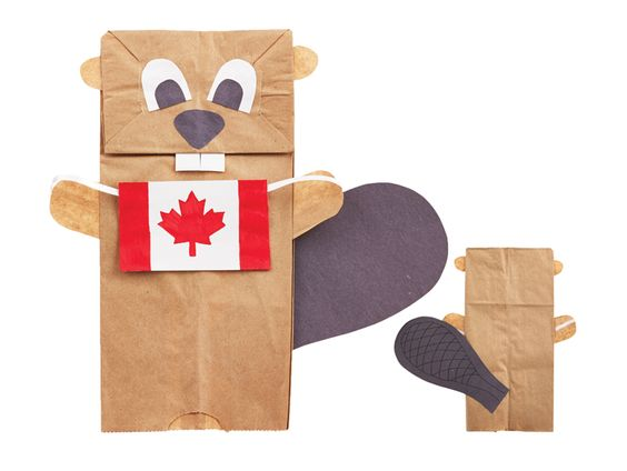 Show your national pride this Canada Day with these easy DIY crafts for beaver puppets, maple leaf wreathes and a fun Oh, Canada headband.