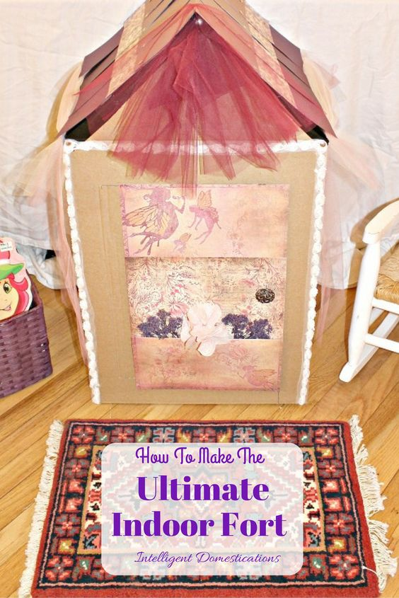How To Build The Ultimate Indoor Fort. Step by step tutorial with pictures. Ours is girly but you can make it for boys too! AD #FreeToBe #cbias