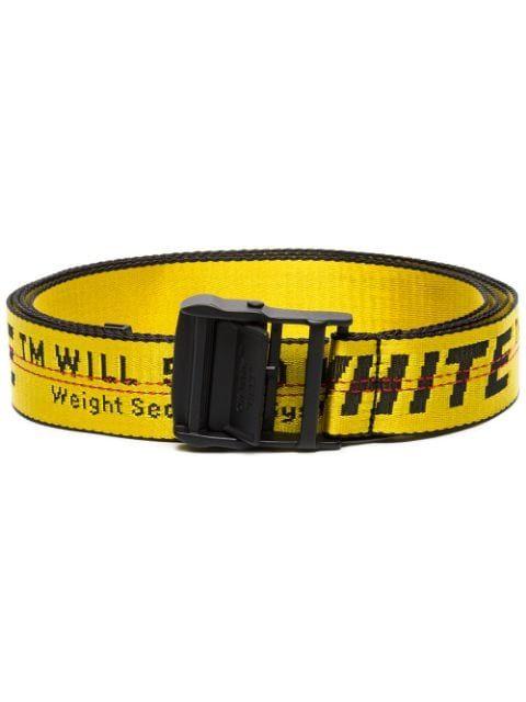 Yellow Synthetic Fibers Belt In 6010 Yellow Black Womens Designer Belts Belt Off White Belt