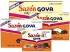 Sazón Goya con Azafran (seasoning with safron). This stuff makes things taste good. Real good.