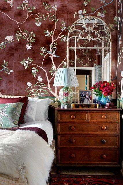 Bedroom with de Gournay Wallpaper in Bedroom Decoration Ideas. The Main Bedroom…