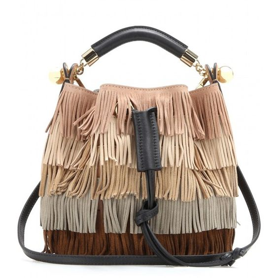 chloe leather handbags - Chlo�� Gala Small Fringed Suede Shoulder Bag ($1,495) ? liked on ...