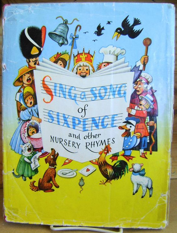1960 Vintage Childrens Book - Sing a Song of Sixpence - Vojtech Kubasta, via Etsy.