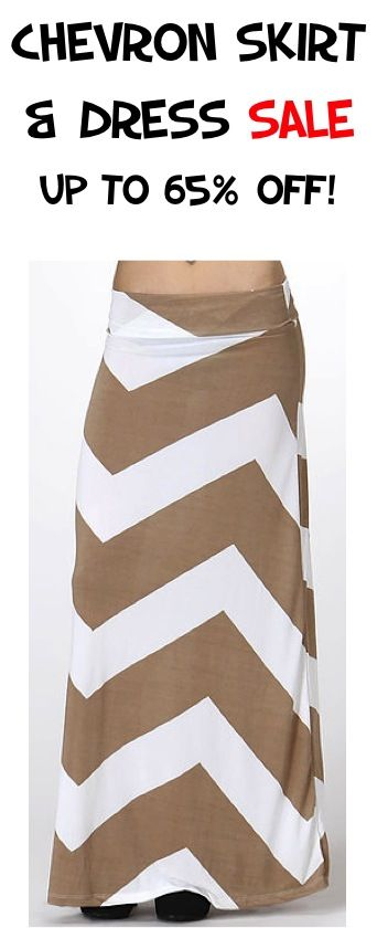 Chevron Skirt and Dress Sale: up to 65% off!! #skirts #dresses #thefrugalgirls