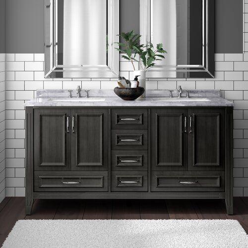 Newtown 60 Double Bathroom Vanity Set In 2020 Double Vanity Bathroom Bathroom Vanity Mold In Bathroom