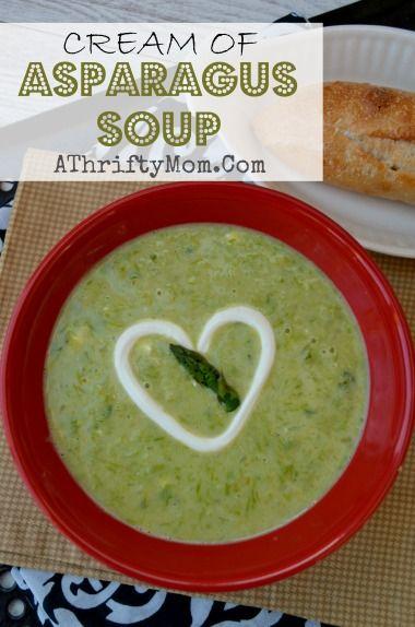 Cream of ASPARAGUS SOUP RECIPE, quick and easy #Soup, #ASPARAGUS SOUP